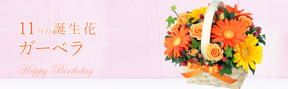 花キューピットの11月の誕生花