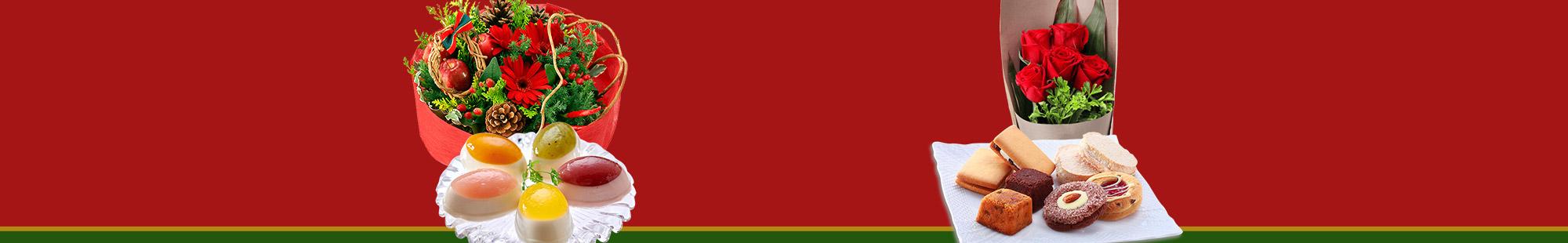 花キューピットのクリスマス お花とスイーツのセット特集2019
