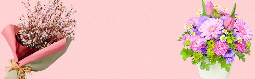 花キューピットの春の誕生日特集