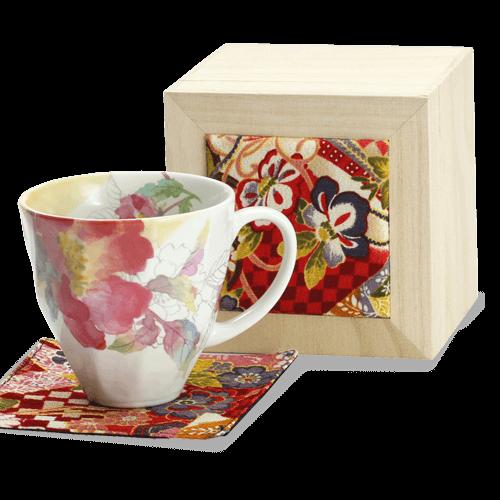 優しいタッチの花柄花みさきマグカップ シャクヤク(ちりめん木箱)|花キューピットの敬老の日におすすめ!人気のプレゼント特集 2019