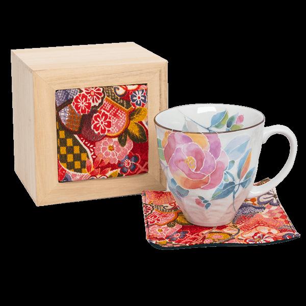 花ことばマグカップ バラ(ちりめん木箱)|花キューピットの敬老の日におすすめ!人気のプレゼント特集 2021