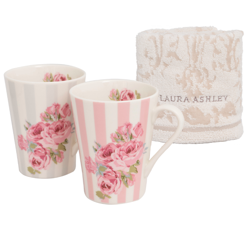 ローラ アシュレイ  タオル付ペアマグ|花キューピットの母の日におすすめ!人気のプレゼント特集 2020