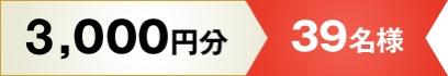 1000円分 39名様