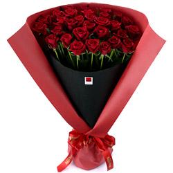 【還暦・ハッピーローズ】ハッピーローズ・セレクション 30本の赤バラの花束