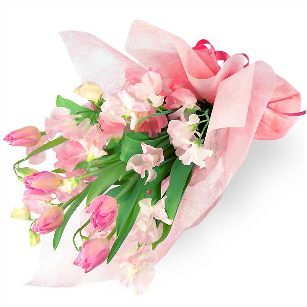 【ホワイトデー】チューリップの花束 111014 |花キューピットのホワイトデー
