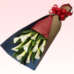 【ホワイトデー特集】カラーの花束 111033 |花キューピットの2019ホワイトデー特集特集