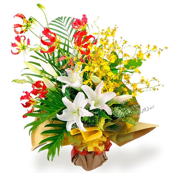 【予算で選ぶ 7000円から(法人)】ユリの花束