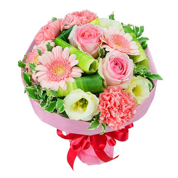 【お祝い】ピンクバラとガーベラのブーケ