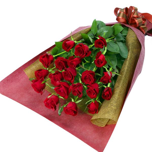 【秋のバラ特集】赤バラの花束 116003 |花キューピットの2019秋のバラ特集