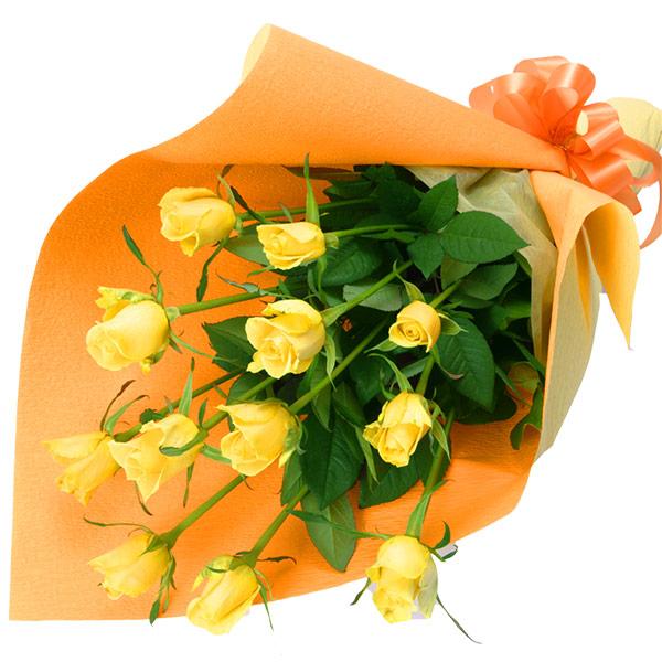 【誕生日フラワーギフト】黄色バラの花束