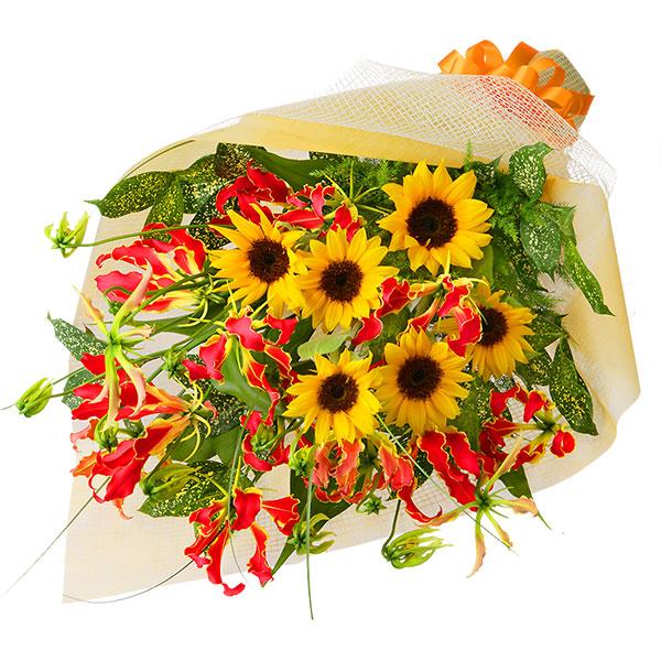 【7月の誕生花(ひまわり等)】グロリオサの花束