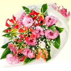 【誕生日フラワーギフト】トルコキキョウの花束