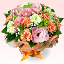 【誕生日フラワーギフト】トルコキキョウのブーケ