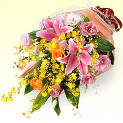【お祝い】ユリの花束
