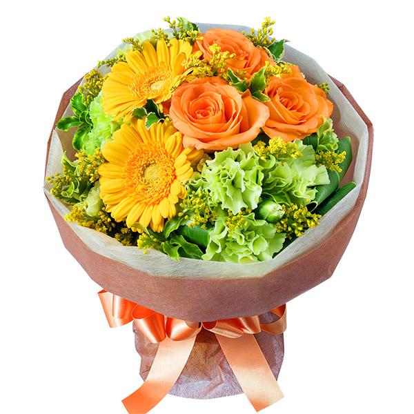 【誕生日フラワーギフト】オレンジバラのブーケ