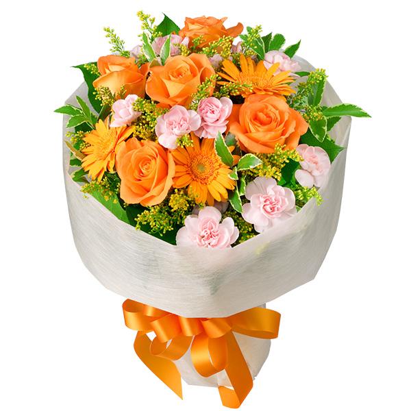 【お祝い(法人)】オレンジバラのミックス花束