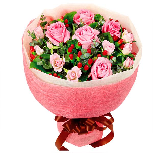 【誕生日フラワーギフト】ピンクバラの花束