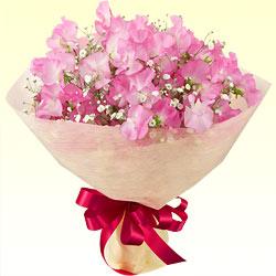 【1月の誕生花(スイートピー等)】ピンクスイートピーのブーケ