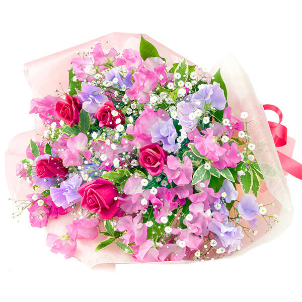 【結婚祝】スイートピーの花束