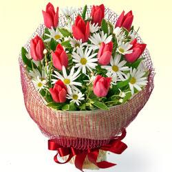 【2月の誕生花(チューリップ等)】チューリップのブーケ