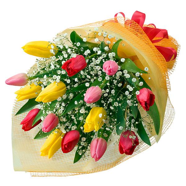 【退職祝い】チューリップのミックス花束
