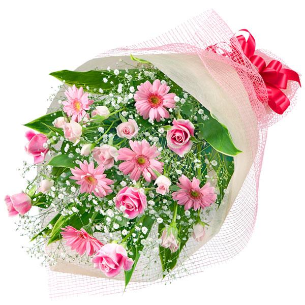 【誕生日フラワーギフト】ピンクバラとガーベラの花束