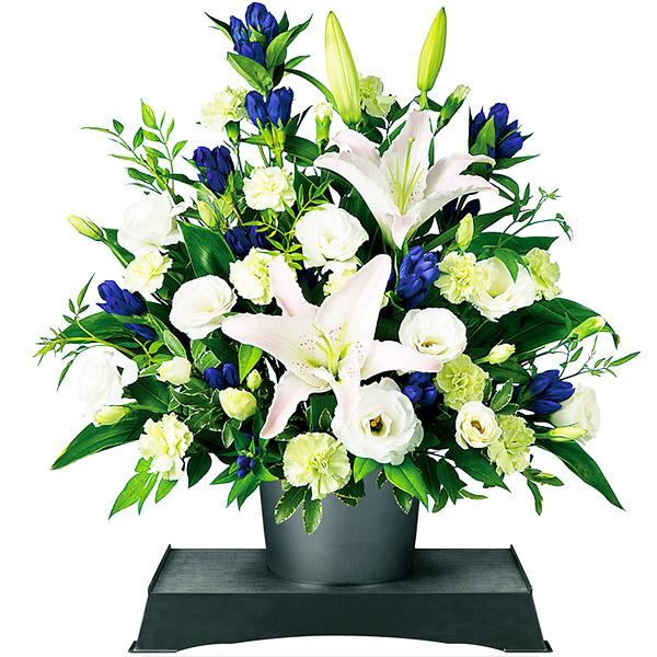 【お盆・新盆】お供えのアレンジメント(供花台(小)付き) 511129 |花キューピットのお盆・新盆特集2020