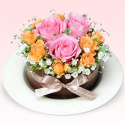 【お祝い】フラワーケーキ(ピンク)