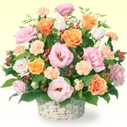 【誕生日フラワーギフト・トルコキキョウ】オレンジバラとトルコキキョウのアレンジ