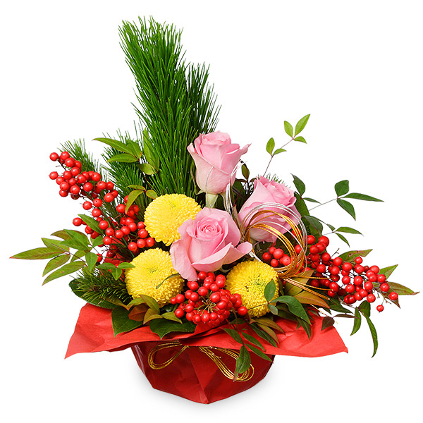 【お正月フラワーギフト】お正月のアレンジメント 511184 |花キューピットの2021お正月フラワーギフト特集