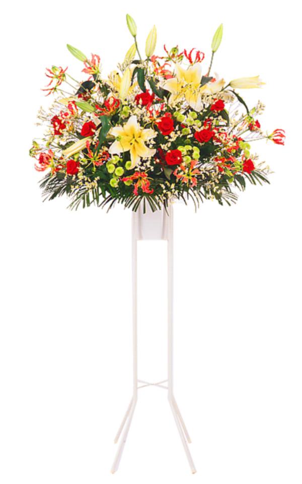 【スタンド花・花輪・当日配達(開店祝い・開業祝い)】お祝いスタンド1段
