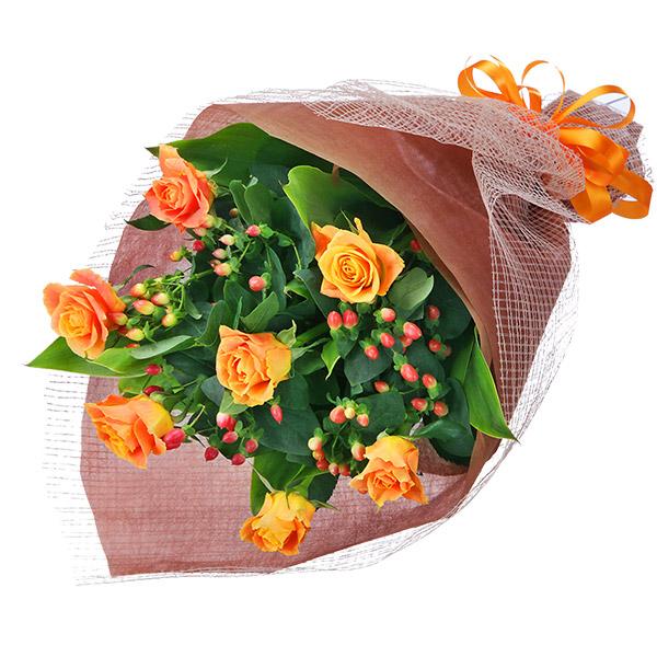 【花束(法人)】オレンジバラの花束