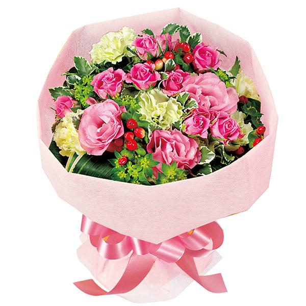 【誕生日フラワーギフト・トルコキキョウ】ピンクバラのブーケ