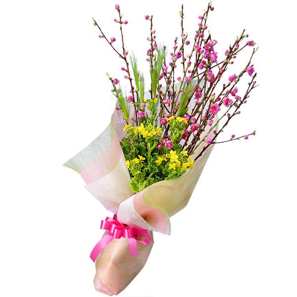【ひな祭り】桃の花と菜の花の花束