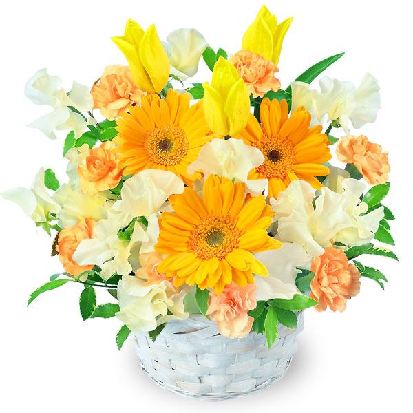 【春の退職祝い・送別会】春のイエローアレンジメント 511272 |花キューピットの春の退職祝い・送別会