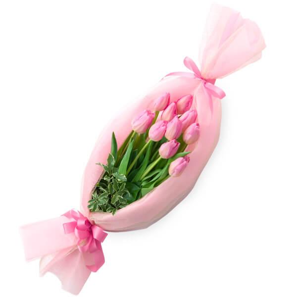【チューリップ特集】キャンディーブーケ(ピンク) 511354 |花キューピットの2019チューリップ特集特集