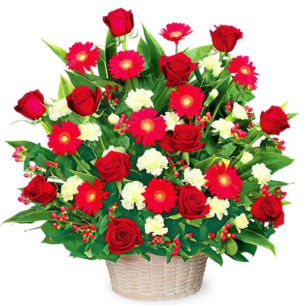 【誕生日フラワーギフト】赤色のアレンジメント