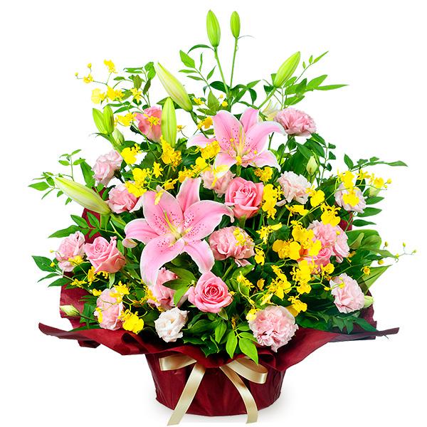 【誕生日フラワーギフト】ピンクユリの華やかアレンジメント