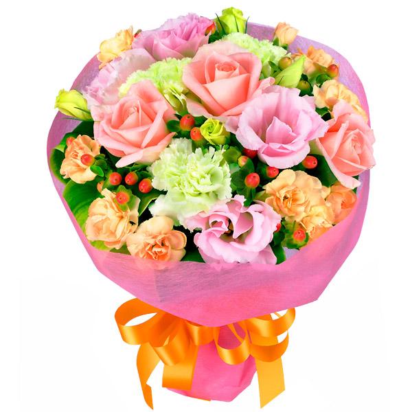【誕生日フラワーギフト・トルコキキョウ】バラとトルコキキョウのブーケ