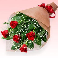 【お祝い】赤バラの花束