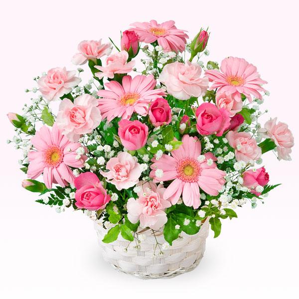 【誕生日フラワーギフト】ピンクガーベラのアレンジメント