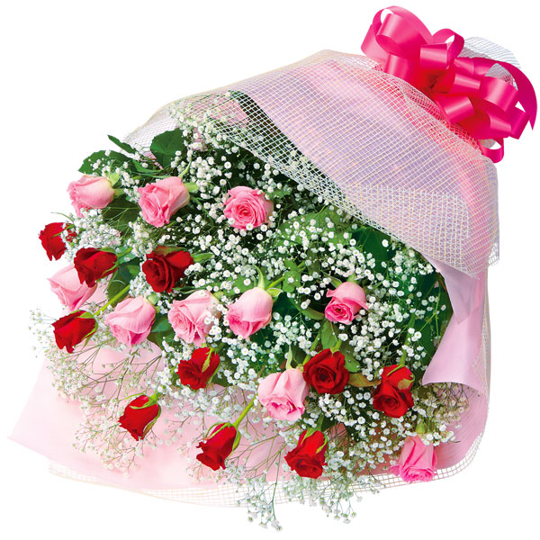 【結婚記念日】ミックスバラの花束