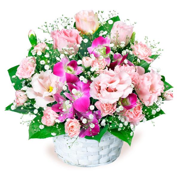 【8月の誕生花(トルコキキョウ等)】トルコキキョウとデンファレのアレンジメント
