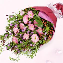 【予算で選ぶ 5000円から(法人)】リンドウとトルコキキョウの花束