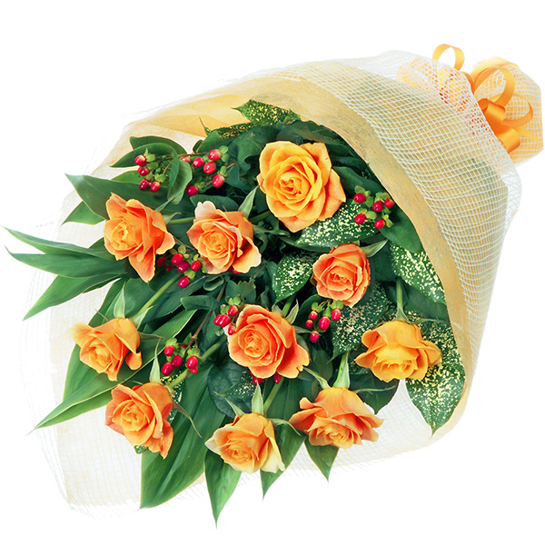 【予算で選ぶ 5000円から(法人)】オレンジバラの花束