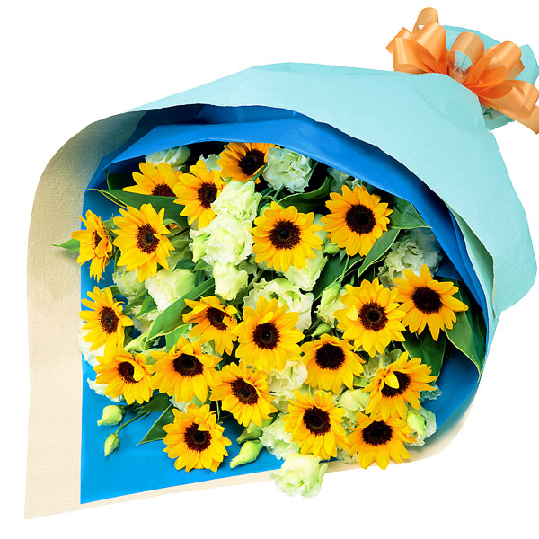 【父の日】ひまわりの花束 511699 |花キューピットの父の日フラワーギフト特集2020