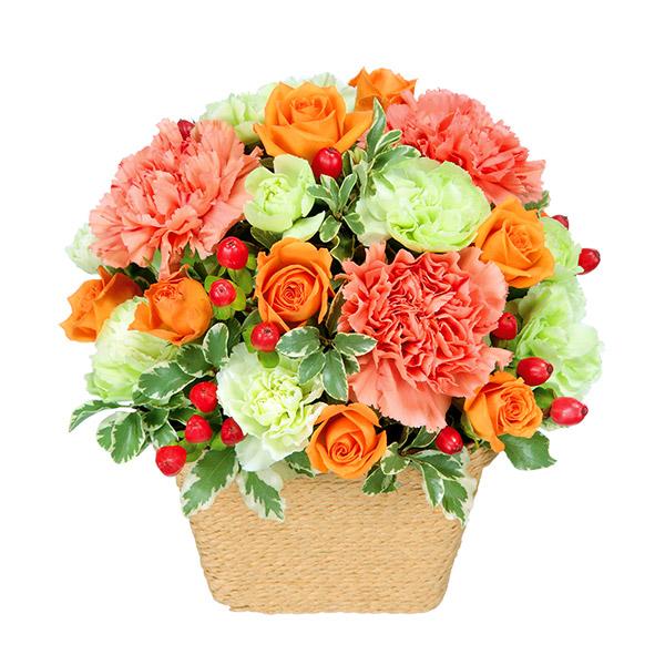 【誕生日フラワーギフト】オレンジアレンジメント