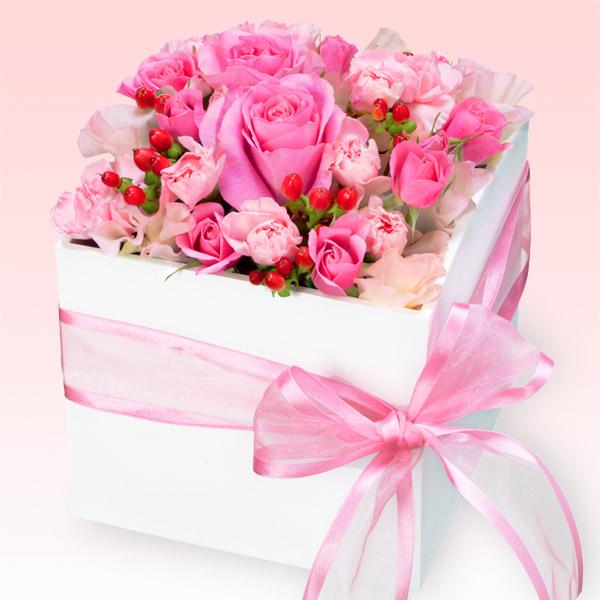 【誕生日バラ(法人)】春のピンクアレンジメント