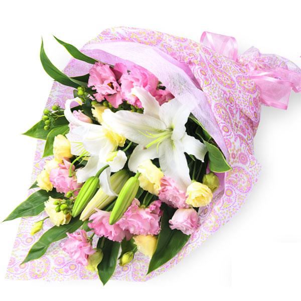 【誕生日フラワーギフト】ユリのミックス花束