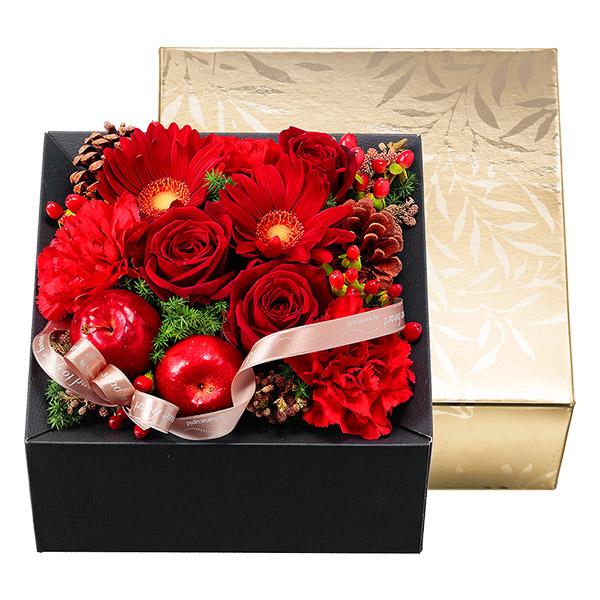 【冬の花贈り特集】赤バラのBOXフラワー 511807 |花キューピットの2019冬の花贈り特集特集